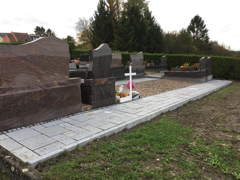 Travaux cimetière communal